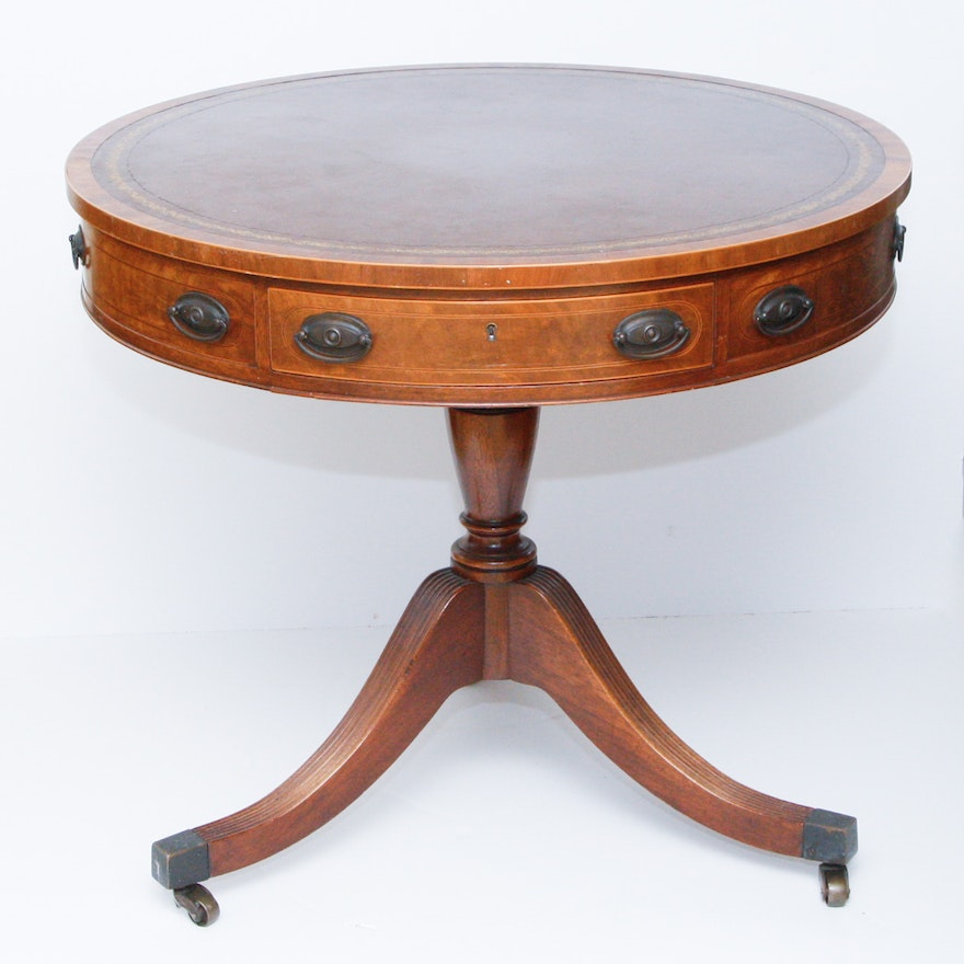 Baker Furniture Vintage Drum Table ... - Baker Furniture Vintage Drum Table : EBTH