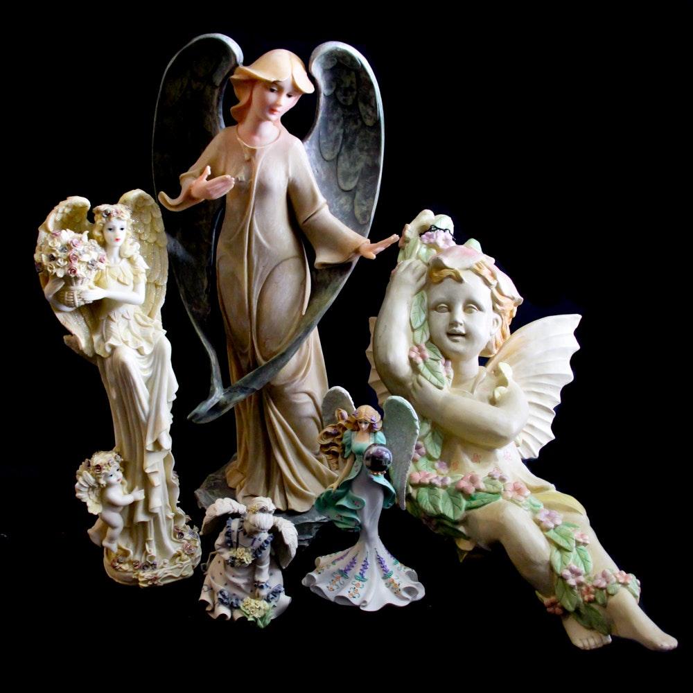 "Thomas Kinkade ""Guardian of the Garden of Prayer"" Figurine and More"