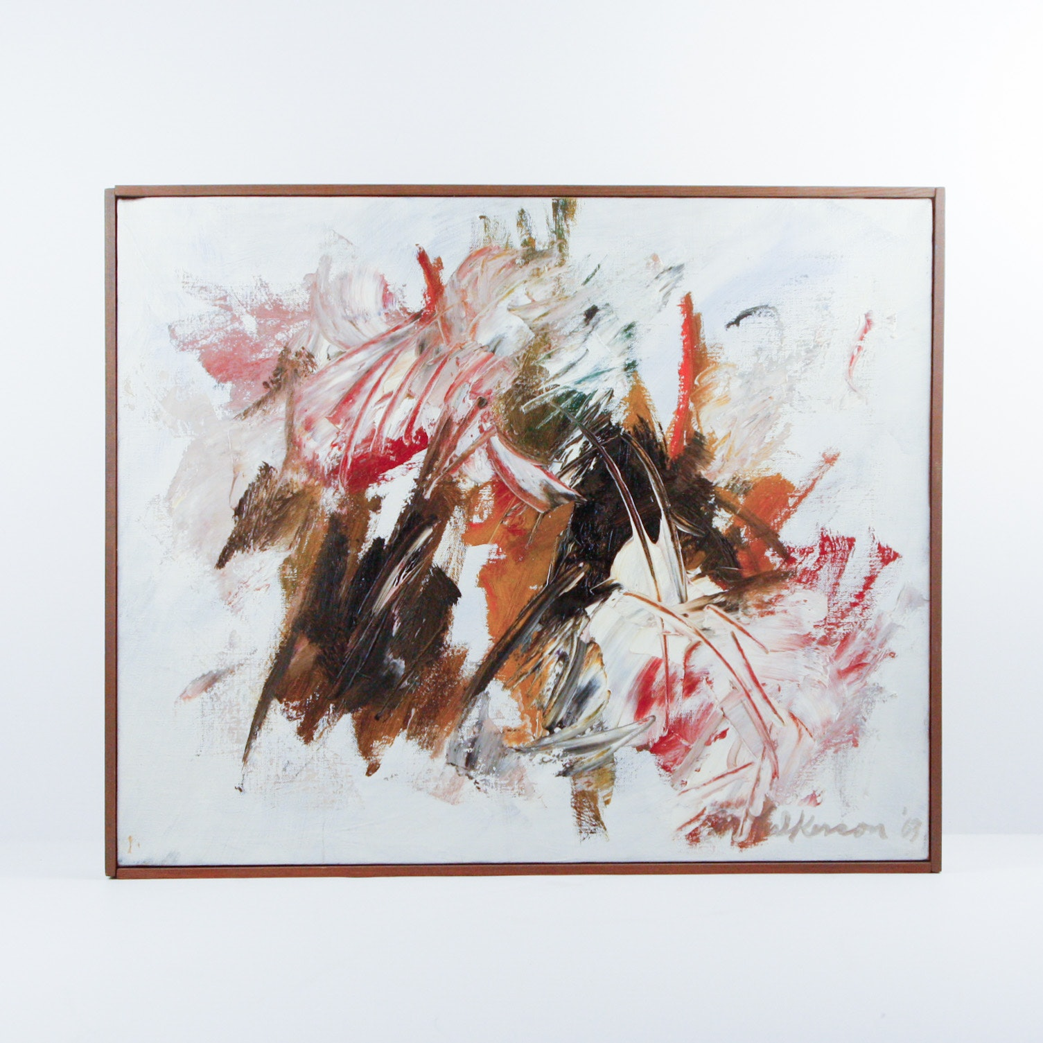 "Original M. Fulkerson Oil on Canvas ""Partita"""