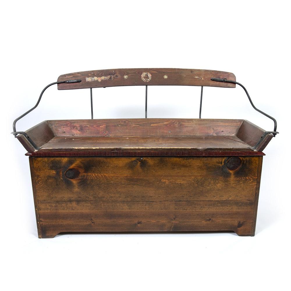 vintage carriage seat storage bench