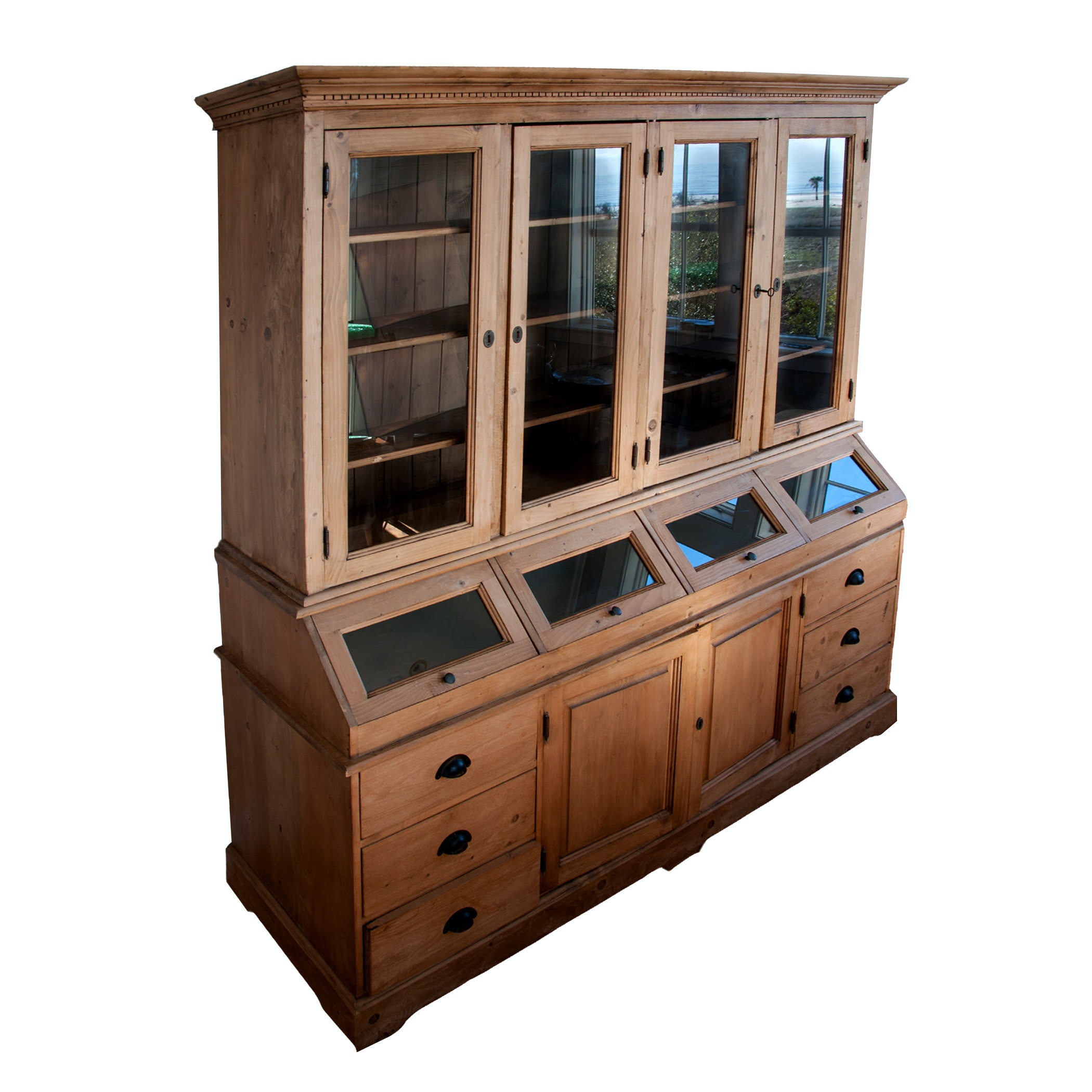 Wooden Display and Storage Hutch
