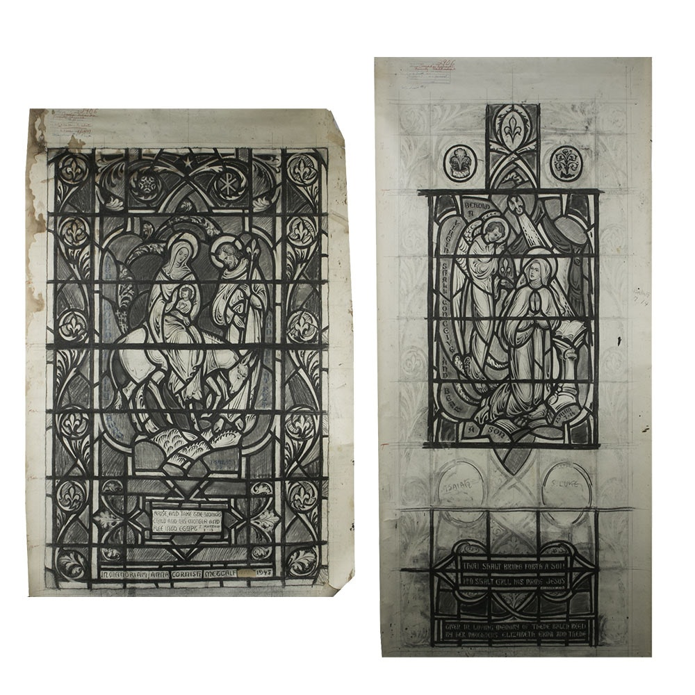 Trinity Church Omaha Nebraska  - Stained Glass Architectural Drawings