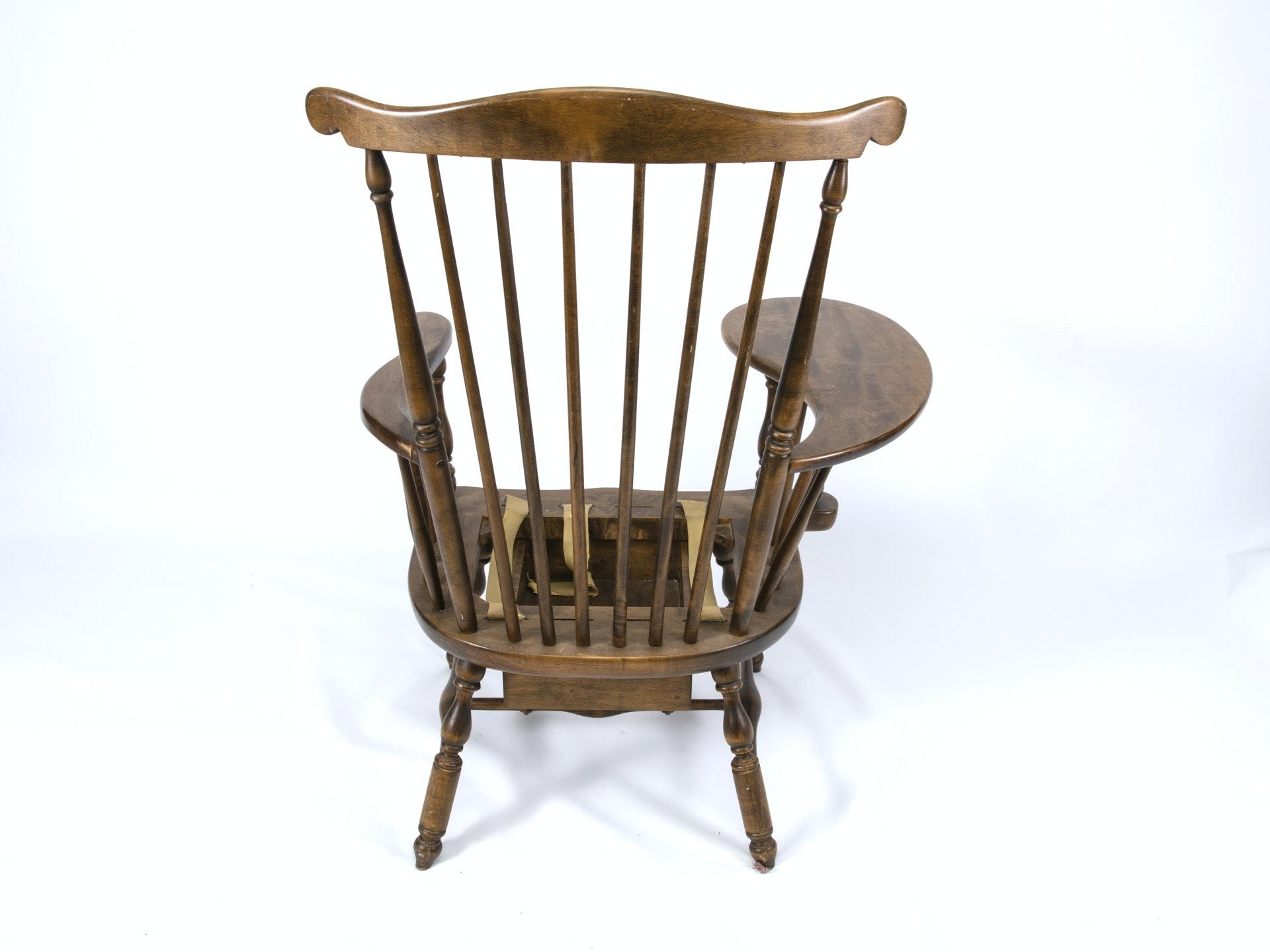 Vintage Windsor Comb Back Chair Desk Ebth