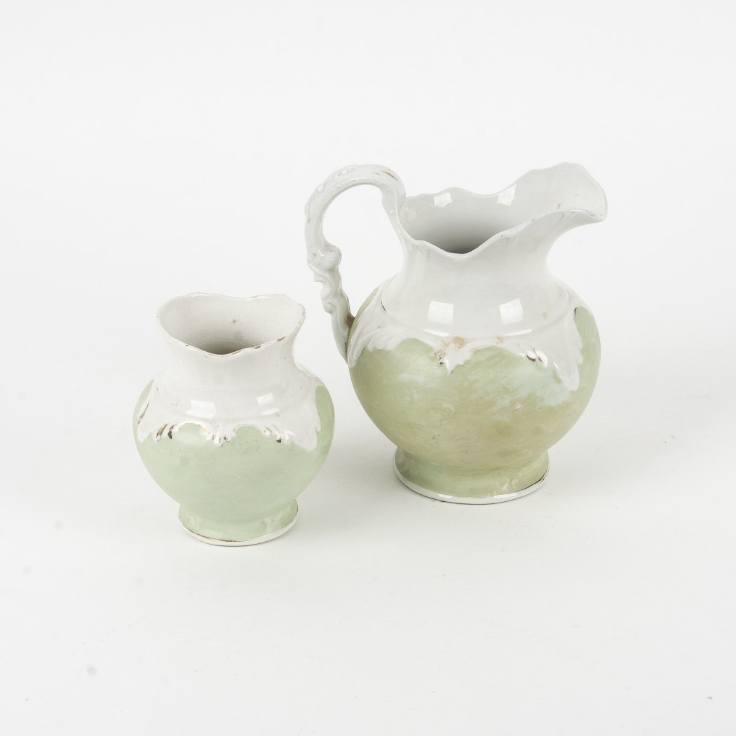 Etruria & Mellor Co. Pitcher and Creamer