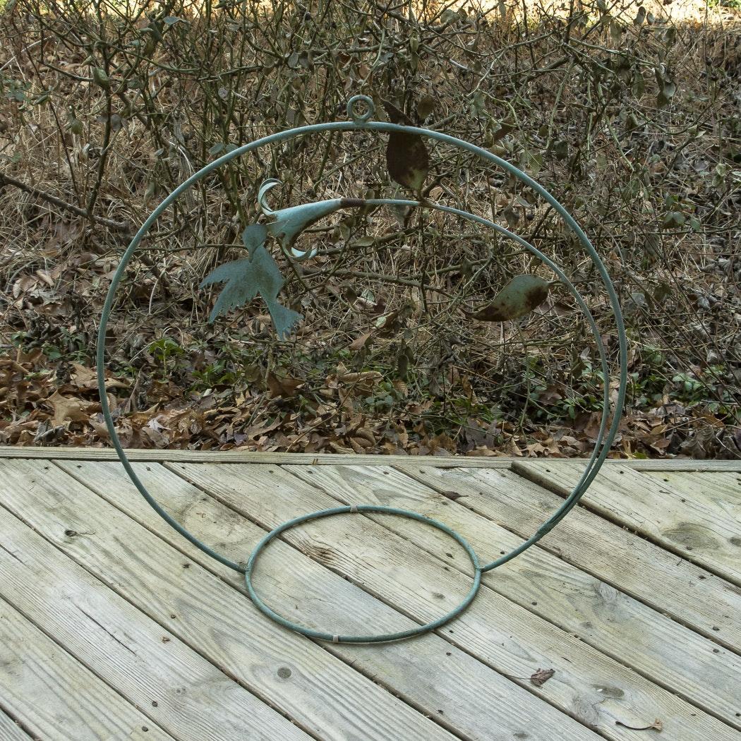 Green Hummingbird Lawn Sculpture
