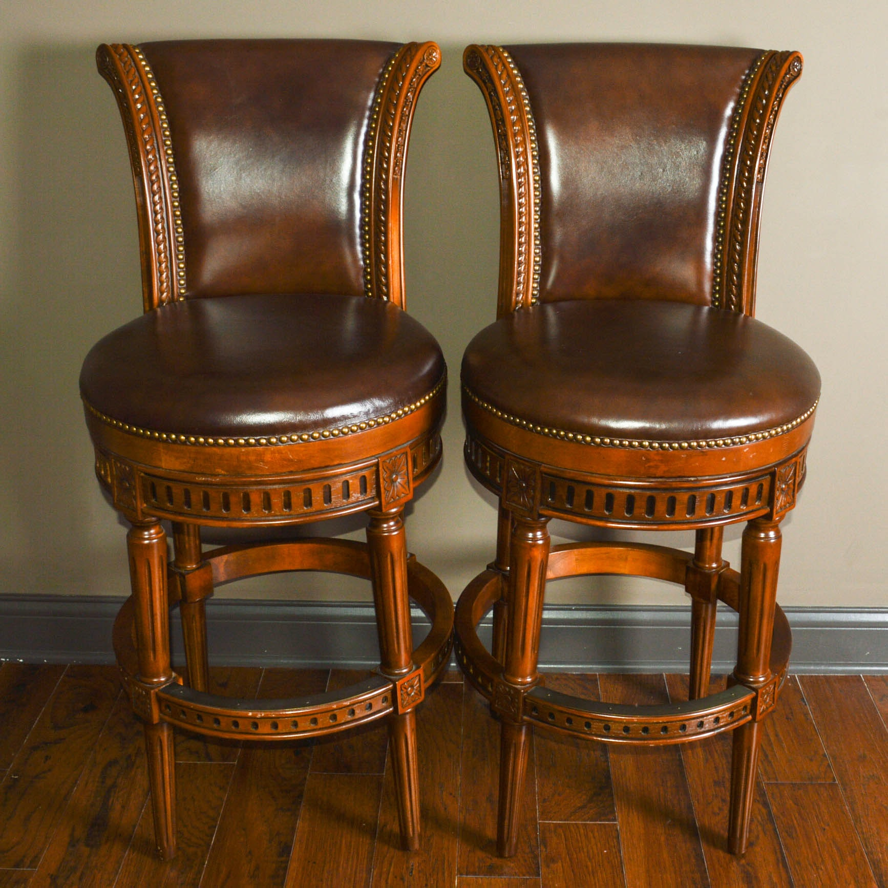 Pair Of Iron Bar Chairs Ebth