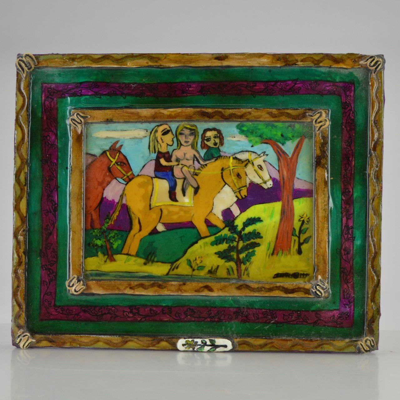 Signed Original Resin Folk Art Painting
