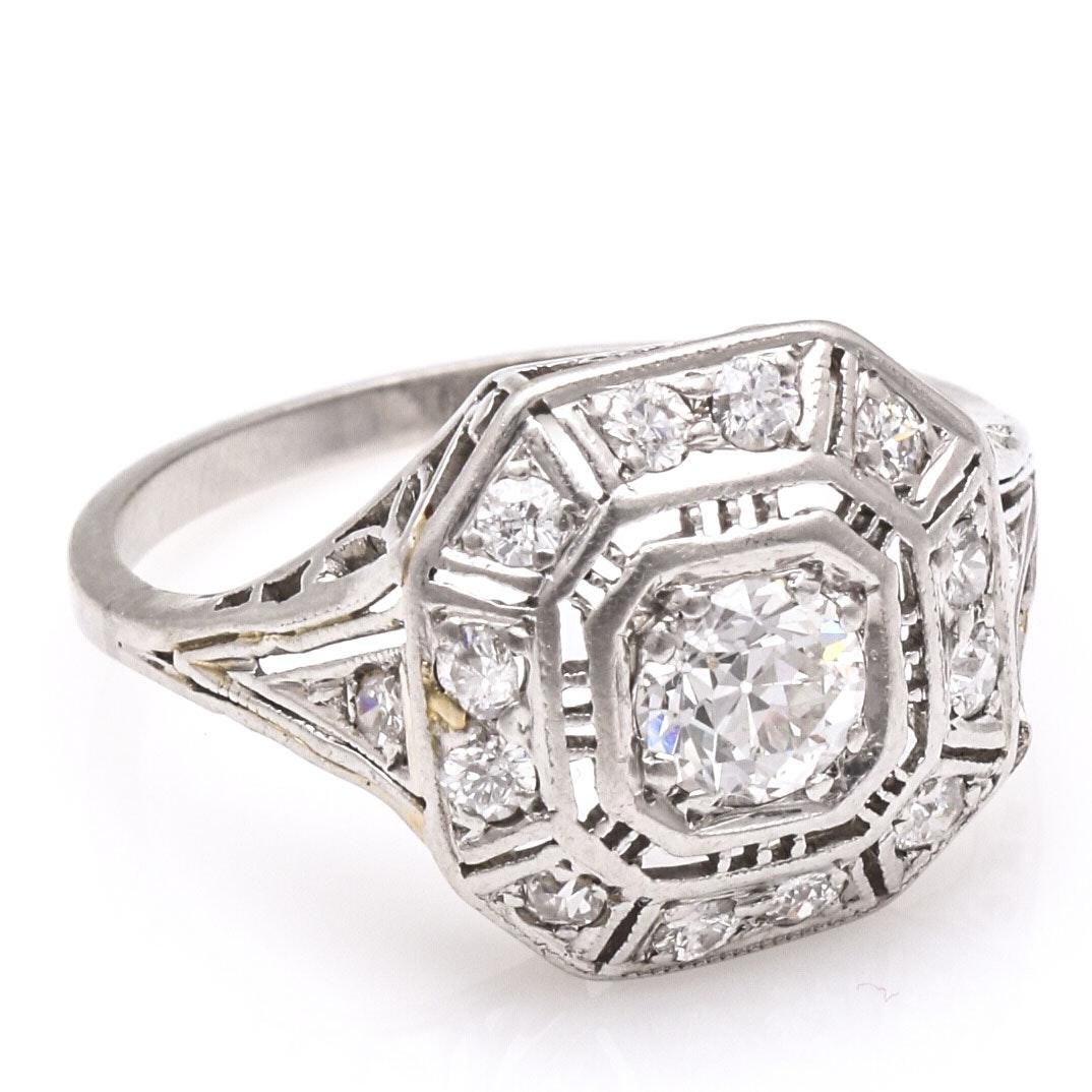 Women's Platinum Diamond Ring