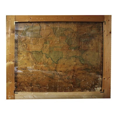 Vintage Maps For Sale Antique Maps For Sale Framed Map Auction - Large wall maps for sale