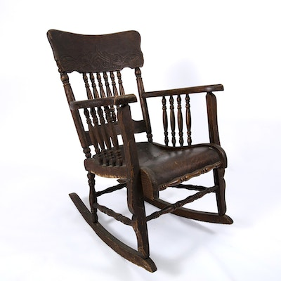 Small Mahogany Rocking Chair - Vintage Chairs, Antique Chairs And Retro Chairs Auction In Art