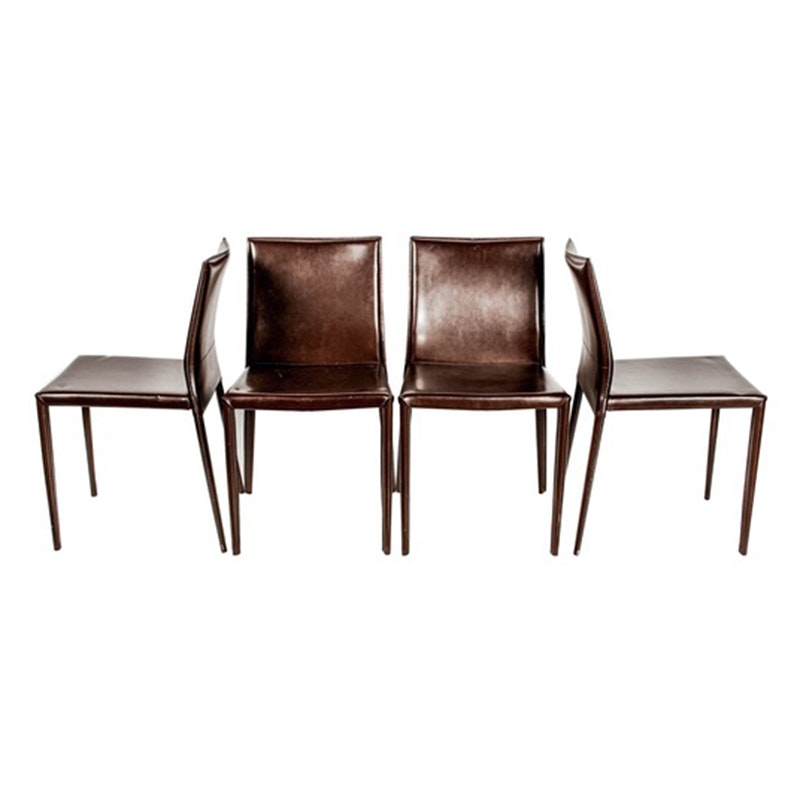Set of  Contemporary Leather Chairs
