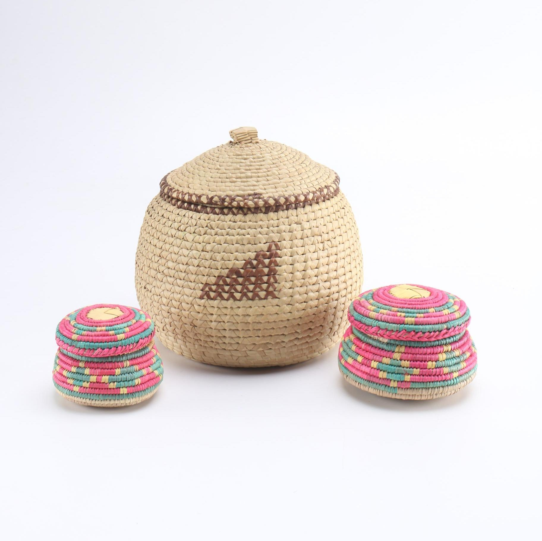 Selection of African Inspired Woven Baskets