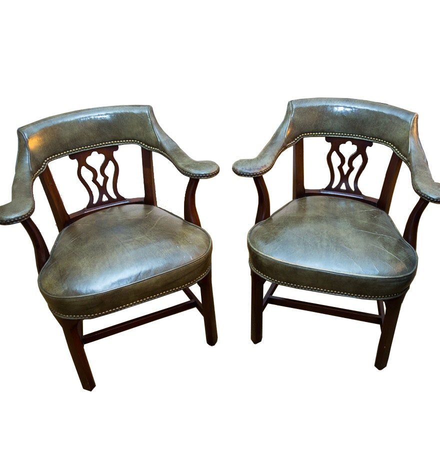 Vintage Library Armchairs by Hickory Chair Company  Vintage Library Armchairs by Hickory Chair Company   EBTH. Antique Library Armchairs. Home Design Ideas