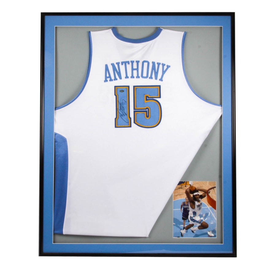 Autographed Denver Nuggets Carmelo Anthony Jersey with COA   EBTH c5026b8d8