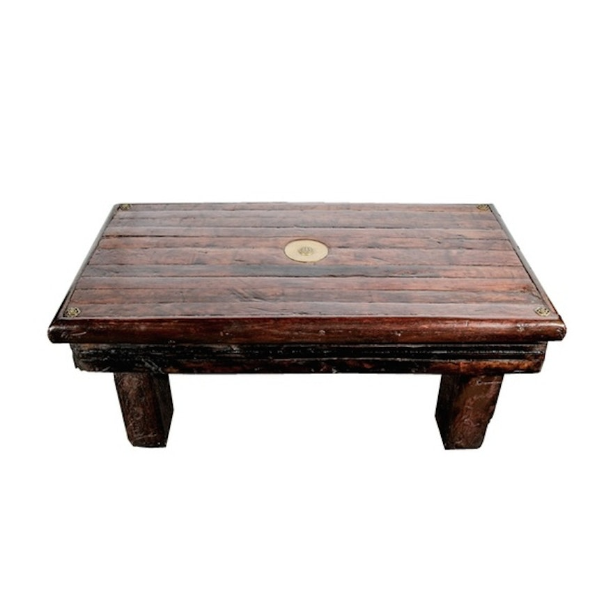 Max starkloff repurposed oak coffee table ebth for 100 year old oak table