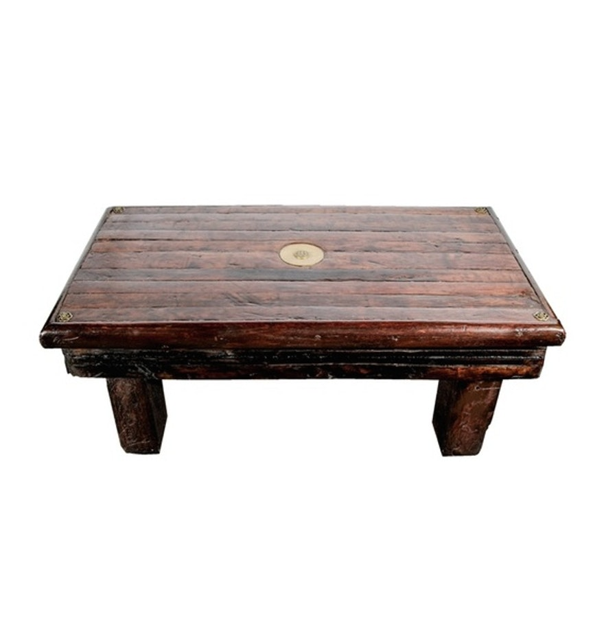 max starkloff repurposed oak coffee table ebth. Black Bedroom Furniture Sets. Home Design Ideas