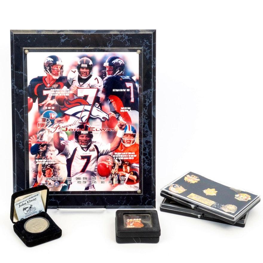 e9e22c6b0 Denver Broncos Quarterback John Elway Memorabilia   EBTH