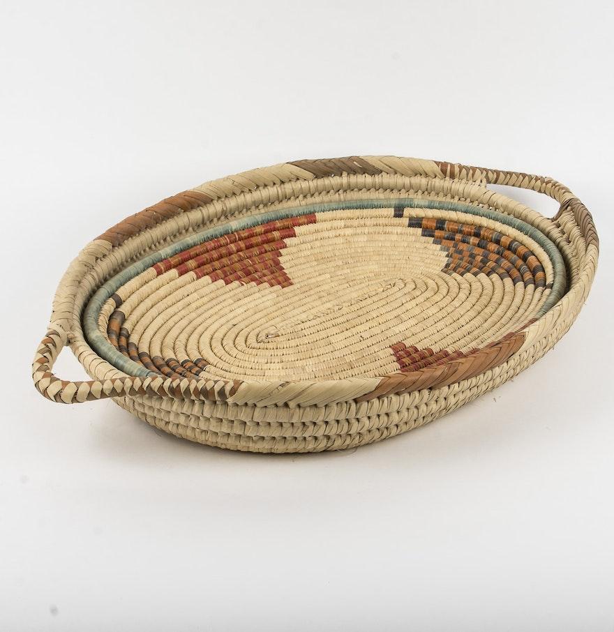 African Woven Baskets: African Hand Woven Basket Trays : EBTH