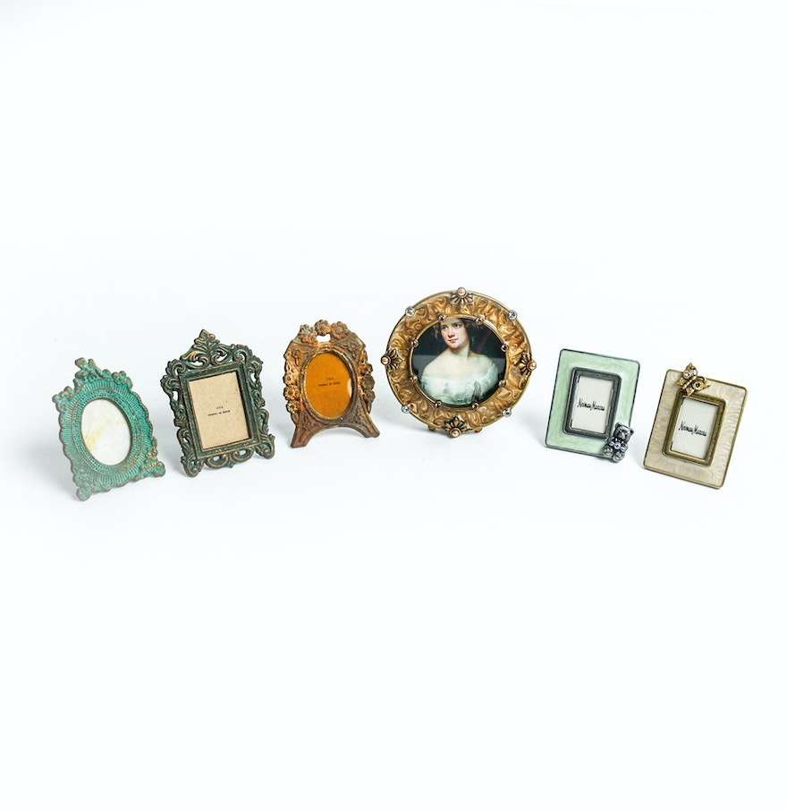 collection of tiny picture frames by jay strongwater for neiman marcus