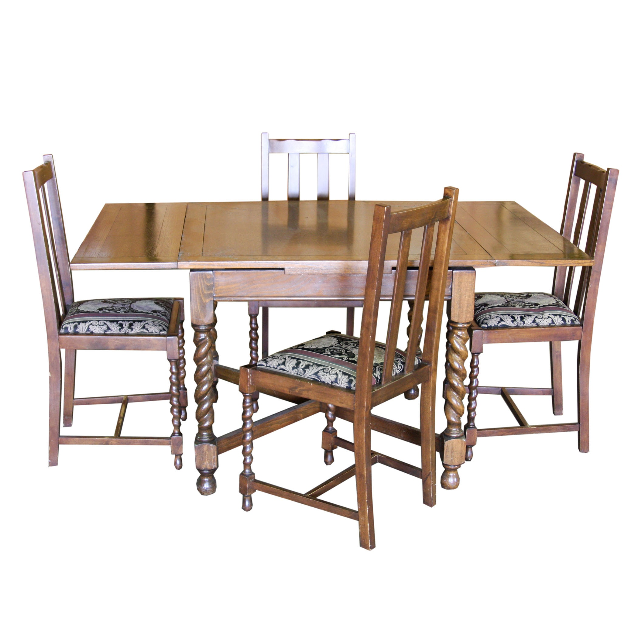 Dining Set With Barley Twist Legs
