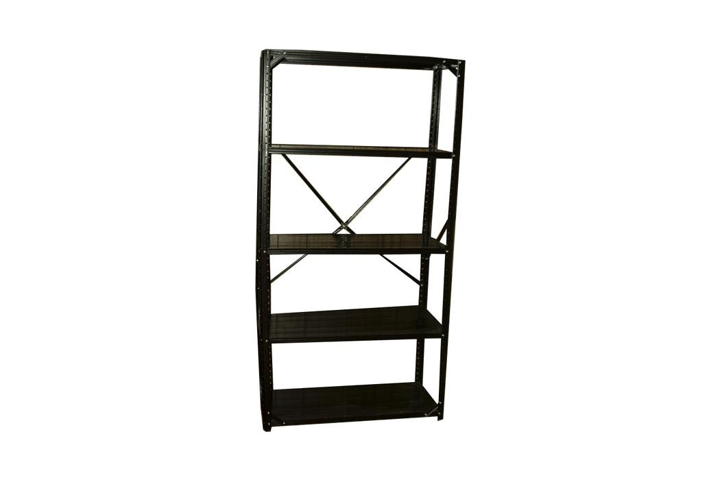 Black Metal Utility Shelf