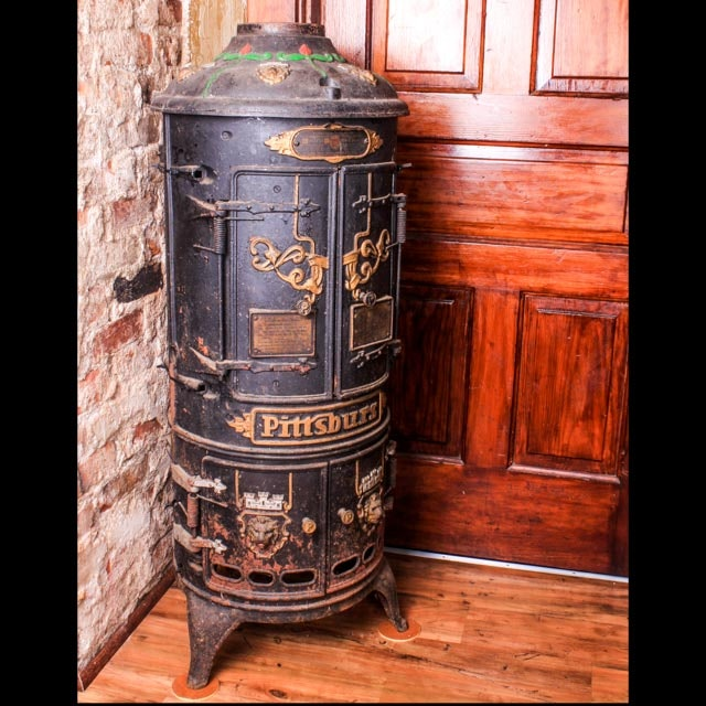 Early 20th Century Cast Iron Pittsburgh Bungalow Water Heater