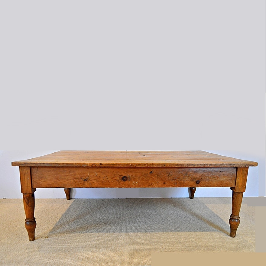 Antique English Pine Coffee Table From English Traditions
