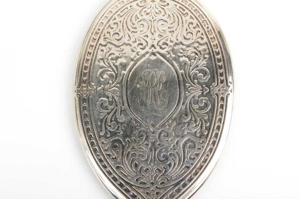 Vintage Tiffany Amp Co Sterling Silver Hand Held Vanity