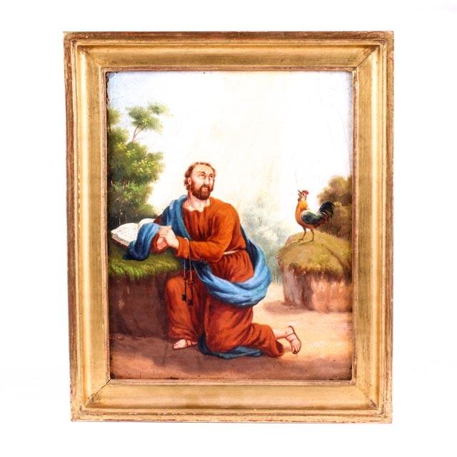 19th Century Oil Painting of Saint Peter