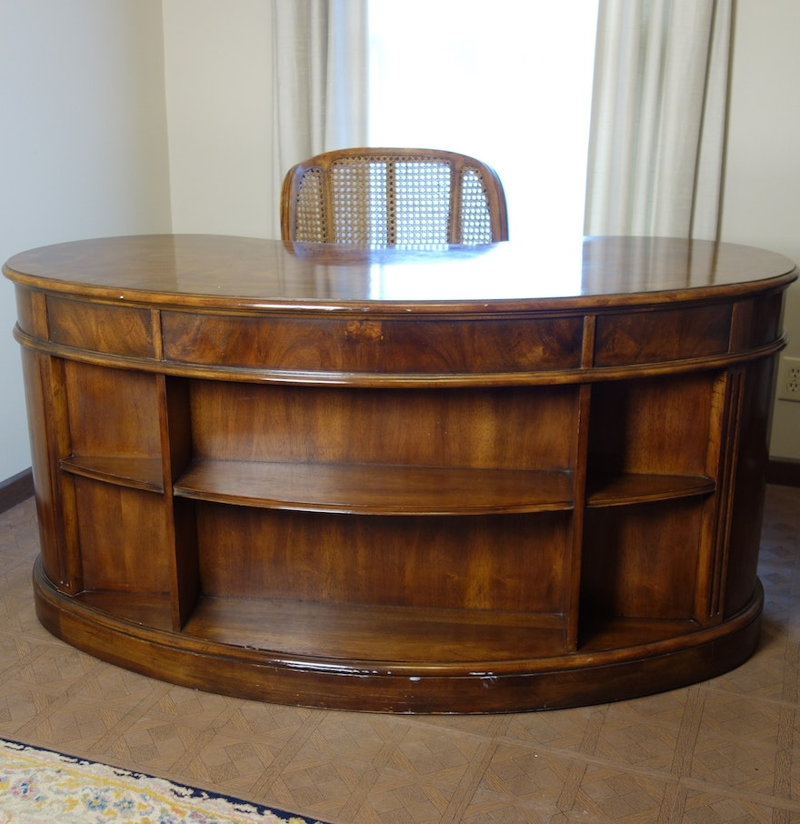 Vintage kidney shape heritage desk ebth for Kidney desk for sale