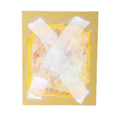"Ricardo Morin Oil Painting on Linen Affixed to Board ""Still Nineteen"""