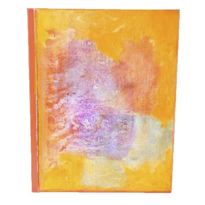 "Ricardo Morin Oil Painting on Linen ""Still Thirty-two"""