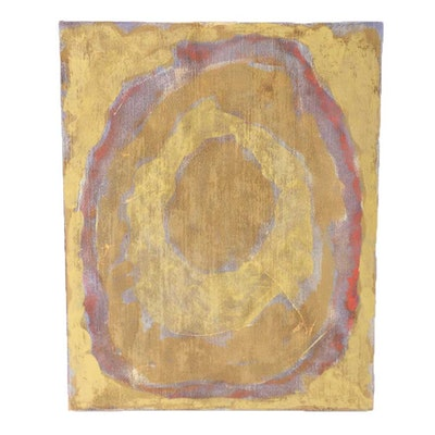"Ricardo Morin Oil Painting on Linen Affixed to Board ""Still Twenty-three"""