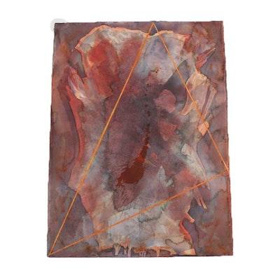 Ricardo Morin Mixed Media Painting on Paper