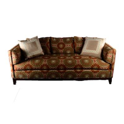 Flexsteel Floral Sofa With Throw Pillows Ebth