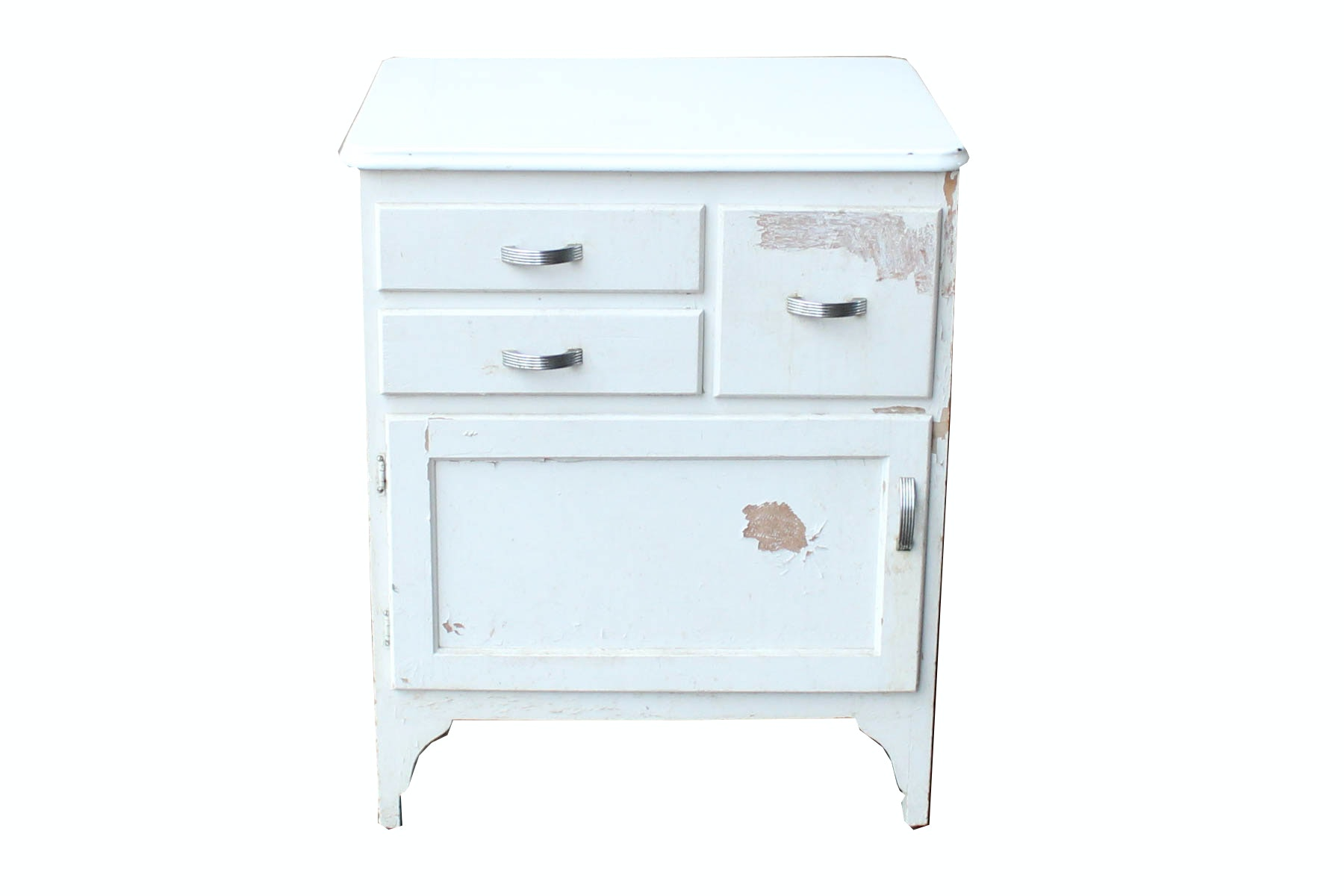 Vintage Three Drawer Kitchen Cabinet With Porcelain Top ...