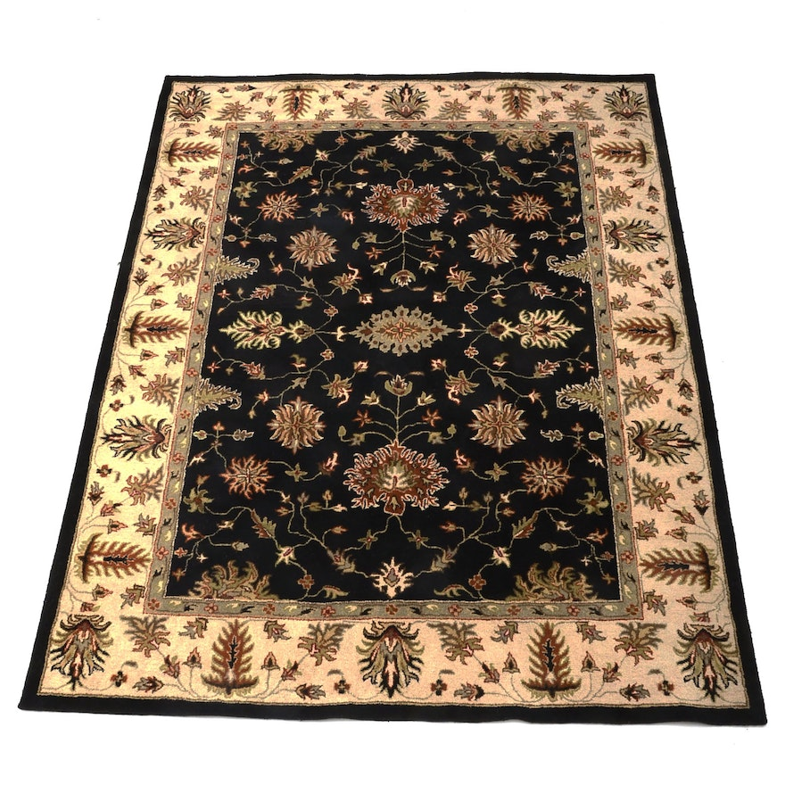 Hand Knotted Persian Wool Area Rug Ebth: Hand Tufted Broyhill Wool Area Rug