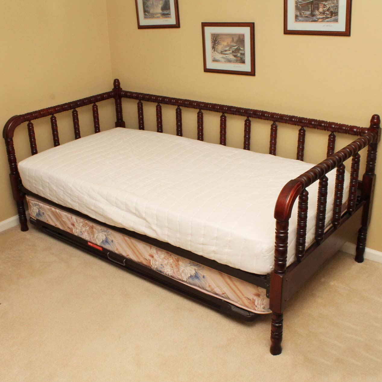 Jenny Lind Style Cherry Trundle Bed : EBTH