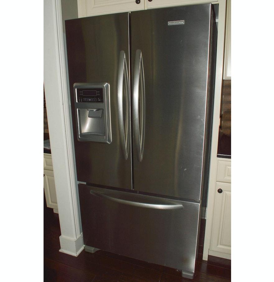 Kitchen Aid French Door Kitchenaid Stainless Steel French Door Refrigerator Freezer Ebth