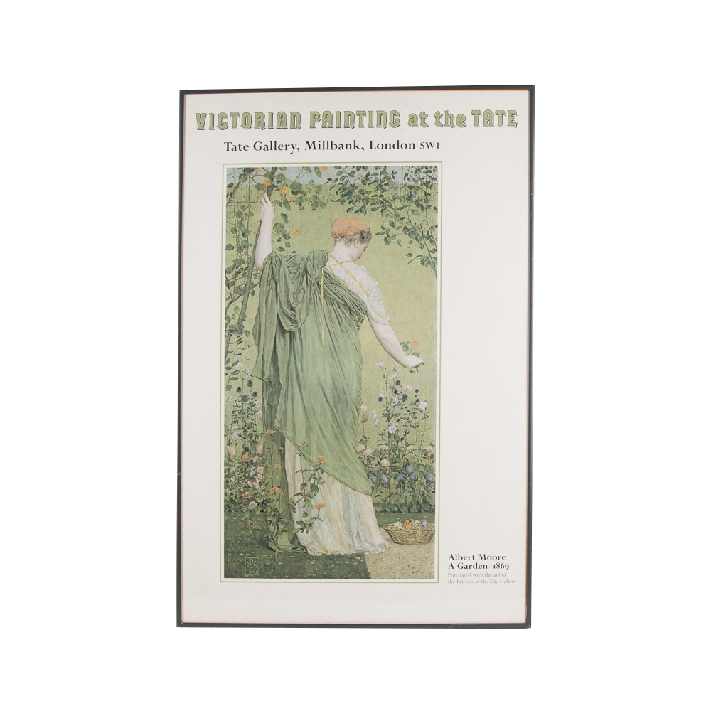 """A Garden"" Offset Lithograph After Albert Moore"