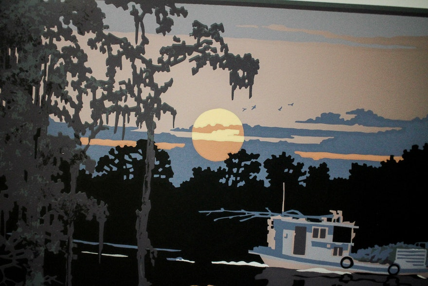 """Cypress Auto Sales >> Limited Edition Signed """"Cypress Swamp"""" Serigraph by Ron ..."""