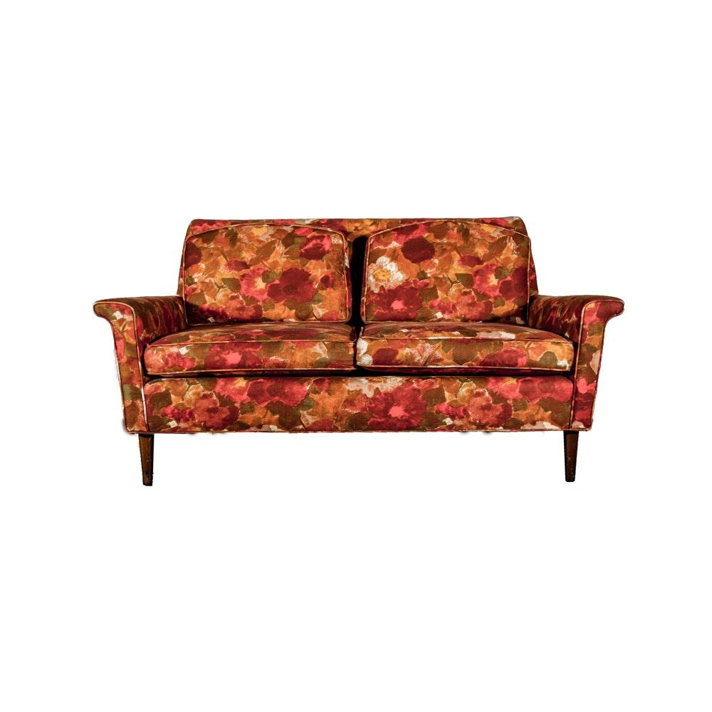 Mid Century Modern Upholstered Loveseat