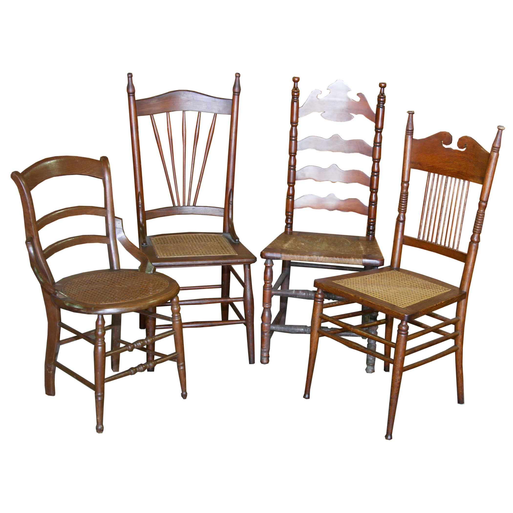 Four Farmhouse Dining Chairs