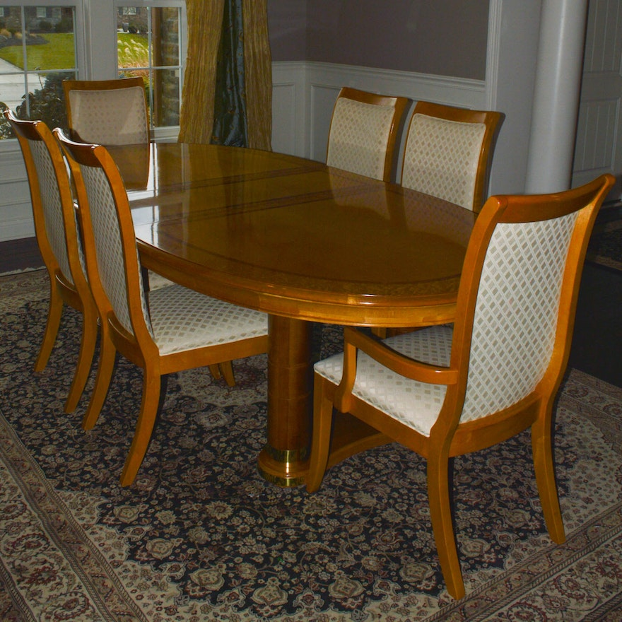 Stanley Furniture Dining Table And Six Chairs