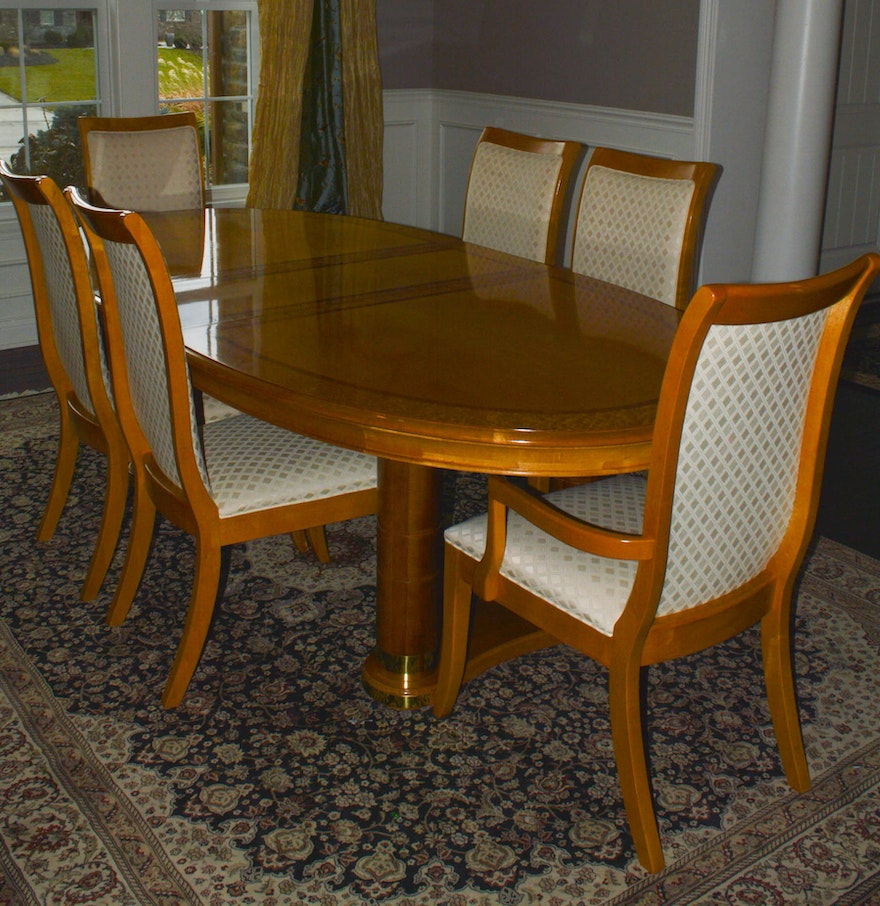 stanley dining room furniture | Stanley Furniture Dining Table and Six Chairs : EBTH