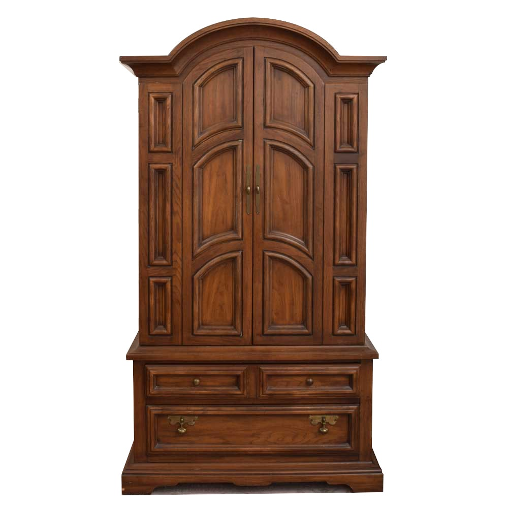 Oak Armoire By United Furniture Corporation ...