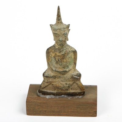 Southeast Asian Buddhist Carved Stone Figurine