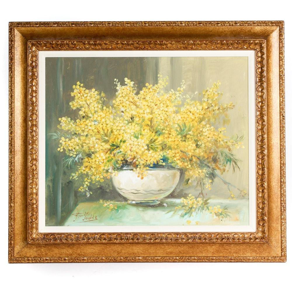 Jodice Oil on Canvas Floral Still Life