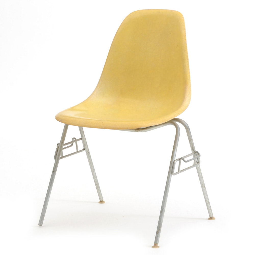 Eames for Herman Miller Shell Chair in Yellow