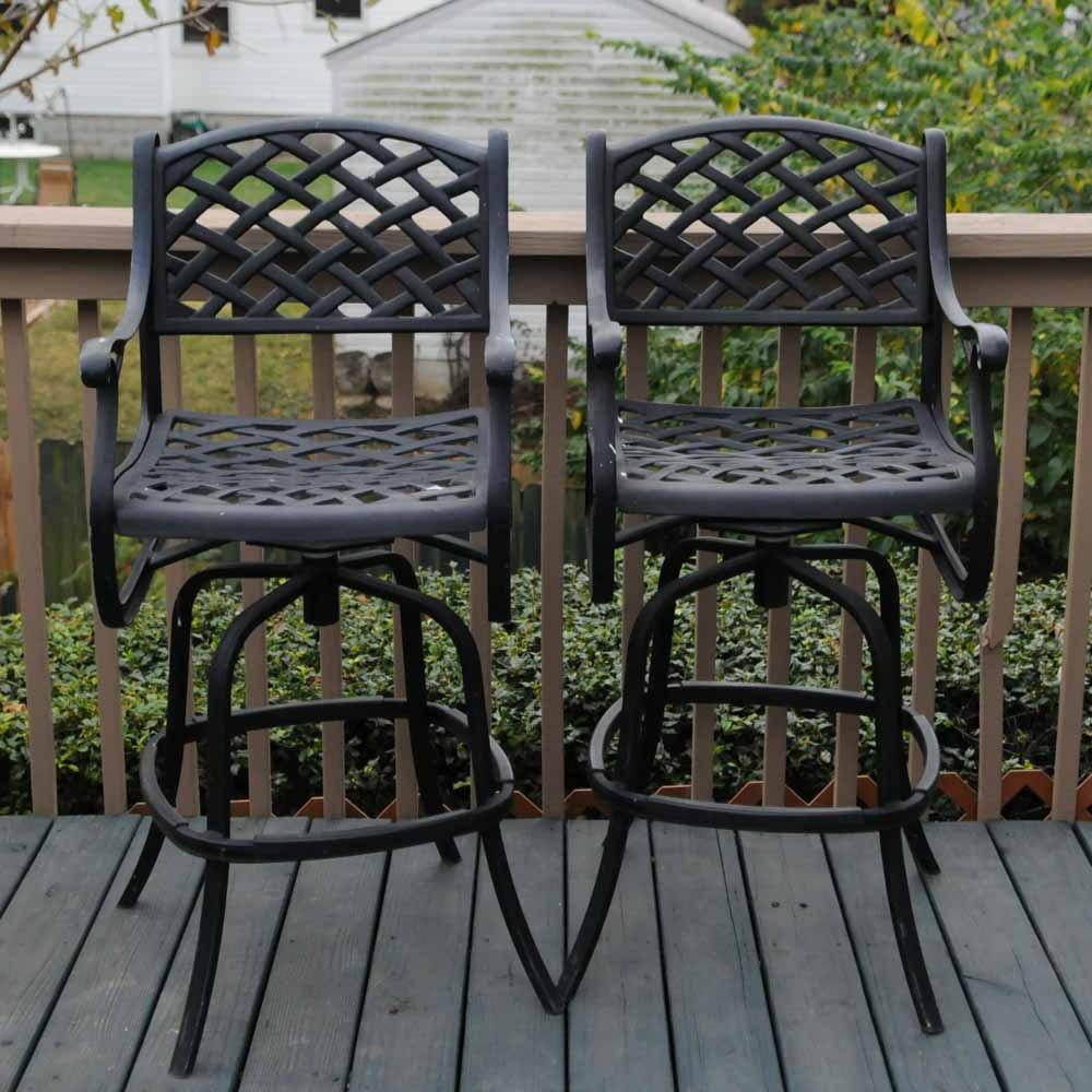 Pair of Outdoor Barstools